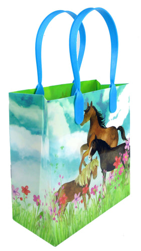 Horse and Pony Themed Party Favor Treat Bags - 12 Bags