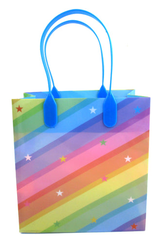 Rainbow Themed Party Favor Treat Bags - 12 Bags