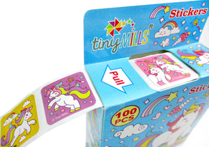 Unicorn Stickers 100 Stickers/Dispenser, Pack of 12 Dispensers