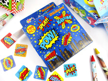 Load image into Gallery viewer, Superhero Stickers 100 Stickers/Dispenser, Pack of 12 Dispensers