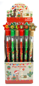 Christmas Holiday Llamas Alpacas Multi Point Pencils