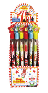 Circus Carnival Multi Point Pencils - 24 Pieces
