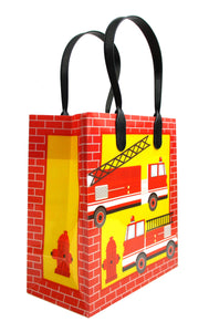 Fire Trucks Party Favor Bags Treat Bags - Set of 6 or 12