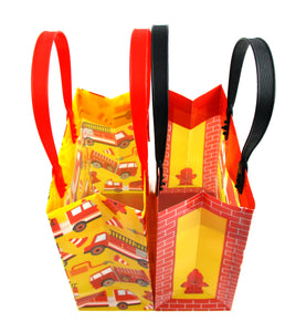 Fire Trucks Party Favor Bags Treat Bags - 12 Bags $ 12.99 Tiny Mills®