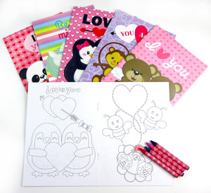 Valentine's Day Coloring Books with Crayons Party Favors, Set of 12 $ 12.99 Tiny Mills®
