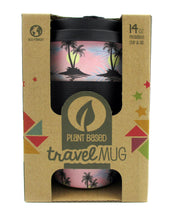 Load image into Gallery viewer, Eco-Friendly Reusable Plant Fiber Travel Mug with Cool Island Design