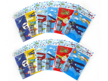 Airplane Coloring Books with Crayons Party Favors - Set of 6 or 12 - Coloring Books | Tiny Mills®