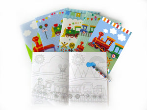 Train Coloring Books with Crayons Party Favors - Set of 6 or 12 - Coloring Books | Tiny Mills®