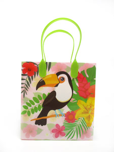 Flamingo Tropical Luau Party Favor Bags Treat Bags - Set of 6 or 12