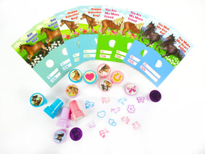 Horse Valentine's Day Cards with Stampers for Classroom Exchange