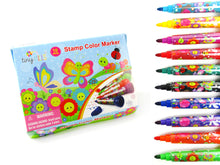 Load image into Gallery viewer, Butterfly and Flowers Stamp Marker Set - Set of 10