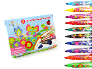 Butterfly and Flowers Stamp Marker Set - Set of 10