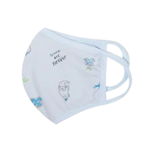 Organic Cotton Blue Toddler Face Masks