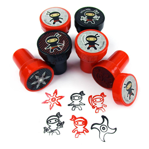 Ninjas Stampers for Kids - 24 Pcs