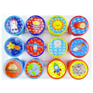 Outer Space Stamp Kit for Kids - 12 Pcs