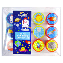 Load image into Gallery viewer, Outer Space Stamp Kit for Kids - 12 Pcs