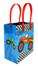 Load image into Gallery viewer, Monster Truck Themed Party Favor Bags Treat Bags - Set of 6 or 12