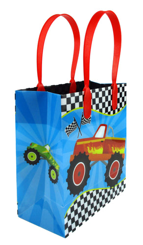 Monster Truck Themed Party Favor Bags Treat Bags, 12 Pack
