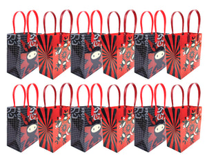 Ninja Themed Party Favor Bags Treat Bags - Set of 6 or 12