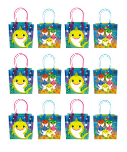 Shark Family Themed Party Favor Bags Treat Bags - Set of 6 or 12