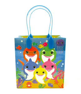 Shark Family Themed Party Favor Bags Treat Bags - 12 Pack - Paper Bags | Tiny Mills®