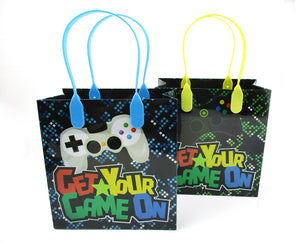 Video Game Themed Party Favor Bags Treat Bags, Set 6 or 12