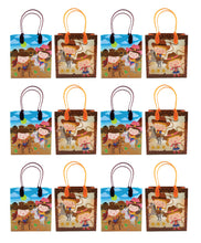 Load image into Gallery viewer, Western Cowboy Cowgirl Themed Party Favor Bags Treat Bags - Set of 6 or 12