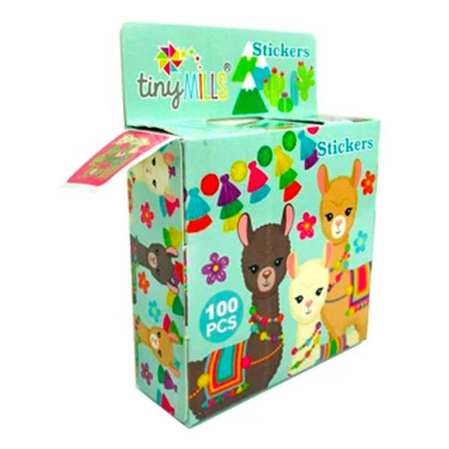 Llamas Alpacas Stickers 100 Stickers/Dispenser, Pack of 12 Dispensers