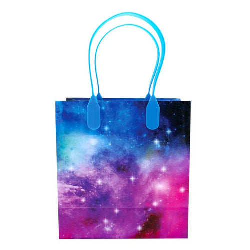 Galaxy Outer Space Party Favor Bags Treat Bags - 12 Bags - Paper Bags | Tiny Mills®