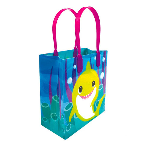 Shark Family Themed Party Favor Bags Treat Bags - Set of 6 or 12 - Paper Bags | Tiny Mills®