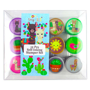 Llamas Stamp Kit for Kids - 12 Pcs - Stamps | Tiny Mills®