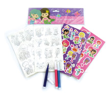 Mermaids Color-in Sticker Set with Markers Party Favors, 12 Pack $ 9.99 Tiny Mills®