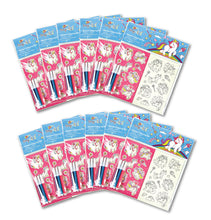 Load image into Gallery viewer, Unicorn Color-in Sticker Set with Markers Party Favors, 12 Pack