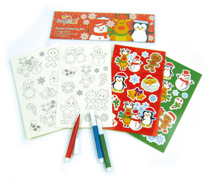 Christmas Holidays Color-in Sticker Set with Markers Party Favors, 12 Pack $ 11.99 Tiny Mills®