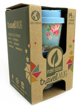 Load image into Gallery viewer, TINYMILLS Eco-Friendly Reusable Plant Fiber Travel Mug with Blue Floral Design