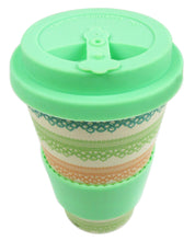 Load image into Gallery viewer, Eco-Friendly Reusable Plant Fiber Travel Mug with Lace Design