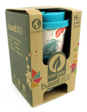Load image into Gallery viewer, Eco-Friendly Reusable Plant Fiber Travel Mug with Tropical Paradise Design