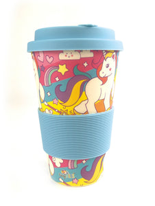 Eco-Friendly Reusable Plant Fiber Travel Mug with Unicorn Design - Travel Mug | Tiny Mills®