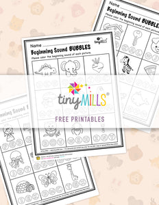 Free Printable Beginning Sound Bubble Worksheets - 2 Designs