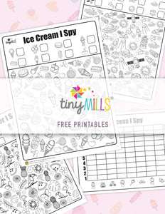 Free printable Ice Cream I Spy Game Worksheets - 6 Designs