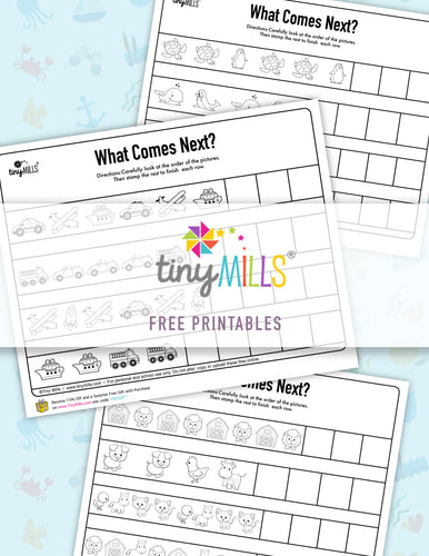Free Printable Pattern Worksheets - 6 Designs