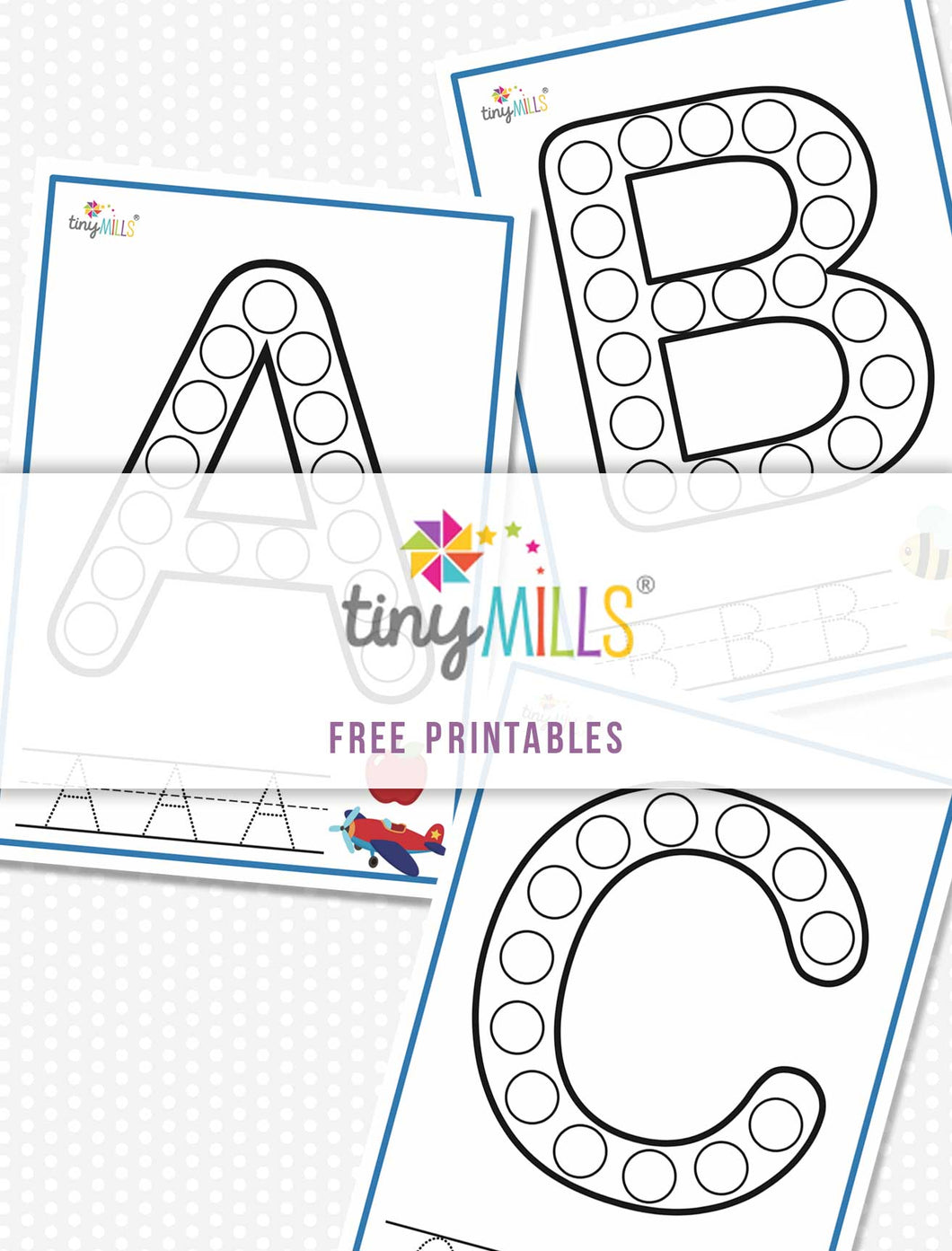 Free Printables Stamp & Count ABC Worksheet (Full 26 Alphabet)