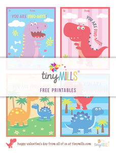 Free Printable Valentine's Day Cards - Dinosaur