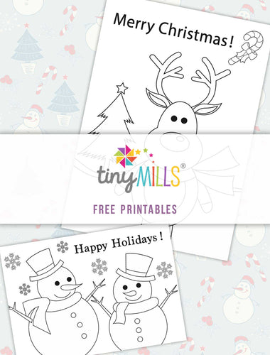 Free Printable Christmas Greeting Cards - 12 Designs