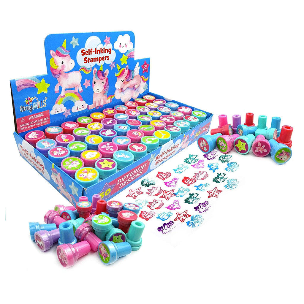 Unicorn Assorted Stampers for Kids - 50 Pcs - Stamps | Tiny Mills®