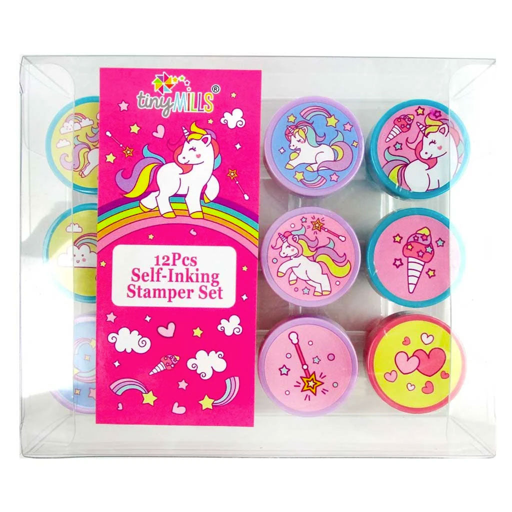 Unicorn Stamp Kit for Kids - 12 Pcs
