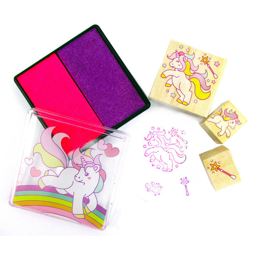 Unicorn Wooden Stamper Sets - 12 Pcs Assorted