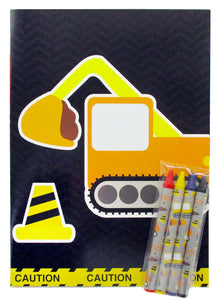Construction Trucks Coloring Books - Set of 6 or 12 - Coloring Books | Tiny Mills®