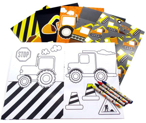 Construction Trucks Coloring Books - Coloring Books | Tiny Mills®
