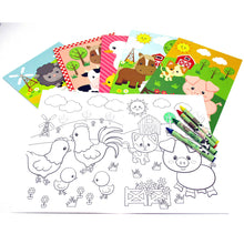 Farm Animals Coloring Books - Set of 6 or 12 - Coloring Books | Tiny Mills®
